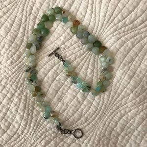 Jewelry - Raw Blue Opal Briolette Wrap Bracelet Gorgeous!